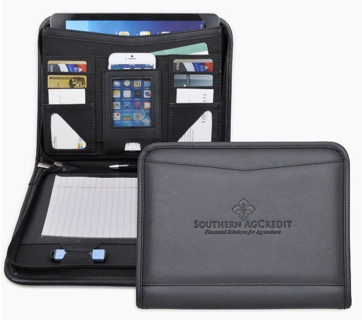 Promotional i pad sized business casepadfolio ipad size business casepadfolio with zippered closure iphone pocket internal file pocket to fit ipad or tablet external file pocket credit card pocket reheart Gallery